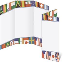 World Flags 3-Panel Brochures