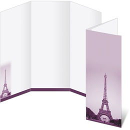 Eiffel Tower Paris 3-Panel Brochures