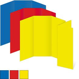 Solid Color Custom 3 Panel Brochures