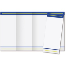 Blue Tailored 4-Panel Brochures