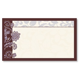 Lavender Brocade Business Cards