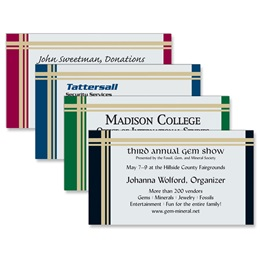 Tattersall Business Cards
