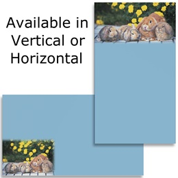 Bunnies Yellow Flower Business Cards
