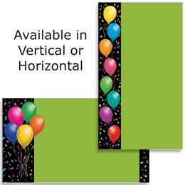 Balloons Confetti Business Cards