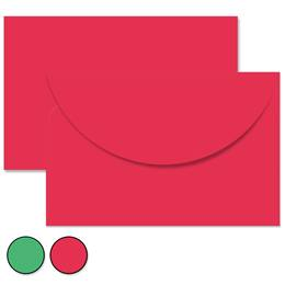 Solid Green Holiday Crescent Envelopes