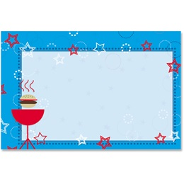 Red, White and BBQ Blue Crescent Envelopes