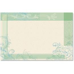 Floral Elegance Crescent Envelopes