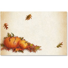 Stenciled Pumpkins Crescent Envelopes