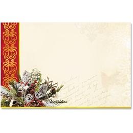 Christmas Cardinal Crescent Envelopes