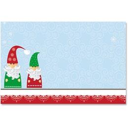 Snowy Santa Crescent Envelopes