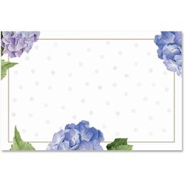 Hydrangeas and Dots Crescent Envelopes
