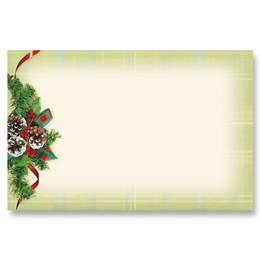 Natural Plaid Crescent Envelopes