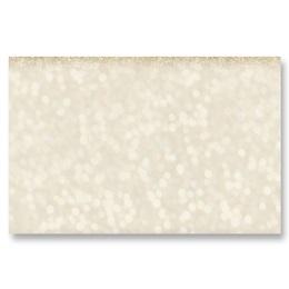Golden Glimmer Crescent Envelopes