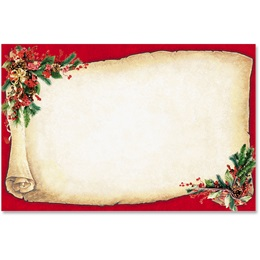 Christmas Scroll Crescent Envelopes