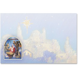 Christmas Nativity Crescent Envelopes