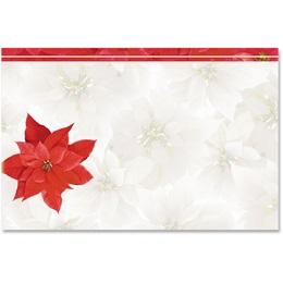 Poinsettia Passion Crescent Envelopes