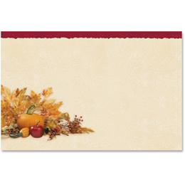 Harvest Cornucopia Crescent Envelopes