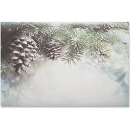 Winter Pinecones Crescent Envelopes