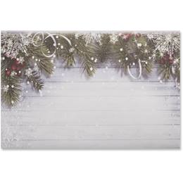 Snowy Sentiment Crescent Envelopes
