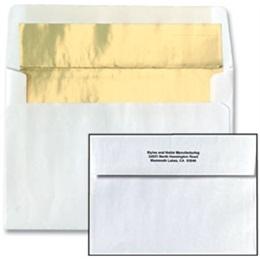 White Foil-Lined Gold Coordinating Envelopes