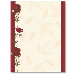 Red Poppies Letterhead