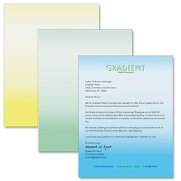 Simple Gradient Letterhead Papers