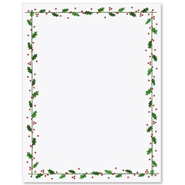 Holly Border Letterhead