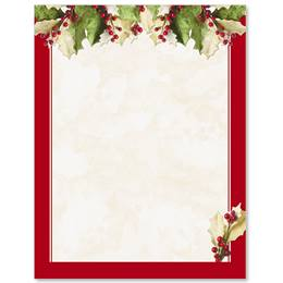 Holly Christmas Letterhead