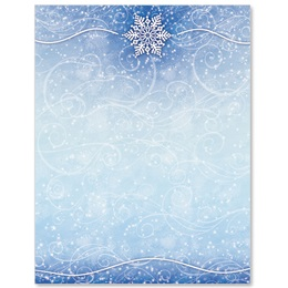 Winter Snow Letterhead