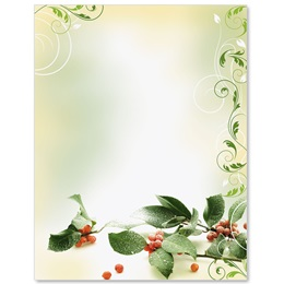 Holiday Holly Border Papers