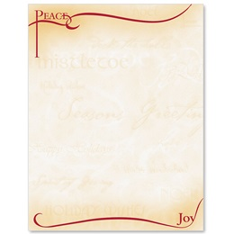 Peace and Joy Letterhead