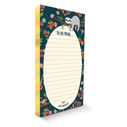 The Sloth Life Gilded Notepad