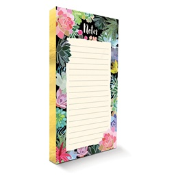 Succulent Paradise Gilded Notepad