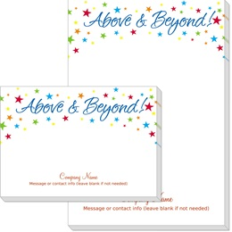Above and Beyond Stars Post-it Notes