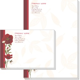 Red Poppies Post-it Notes