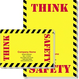 Think Safety Post-it Notes