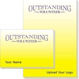 Outstanding Volunteer Post-it Notes