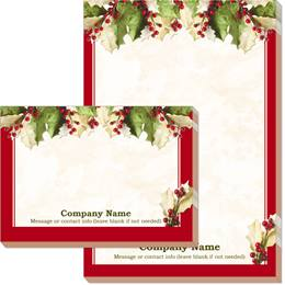 Holly Christmas Post-it Notes