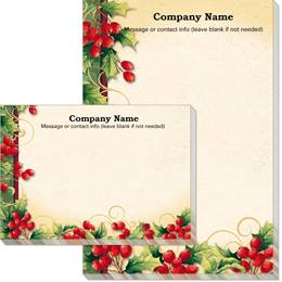 Custom Holly Berry Swirls Post-it Notes