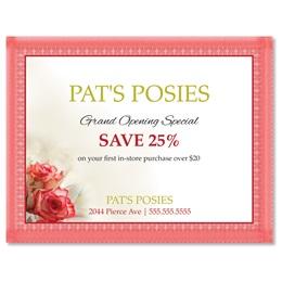 Sentimental Roses Postcards