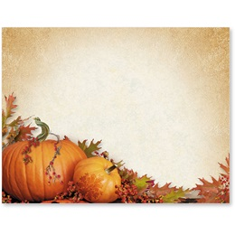 Stenciled Pumpkins Postcards