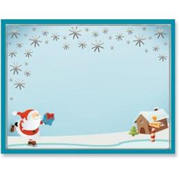 Ice Skating Santa Specialty Postcards