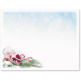 Red Ornament Specialty Postcards