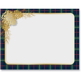 Plaid & Pinecones Postcards