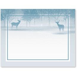 Deer In Snow Postcards