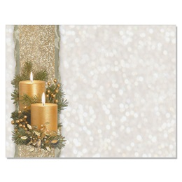 Golden Glimmer Holiday Postcards