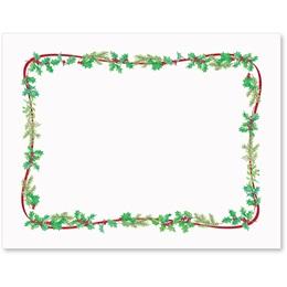 Simple Holly Christmas Postcards
