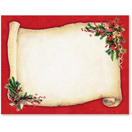 Christmas Scroll Postcards