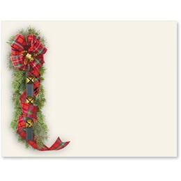 Tartan Sleigh Bells Postcards