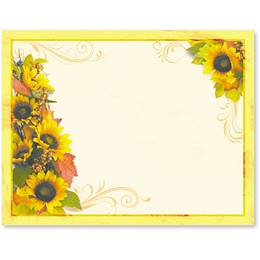 Golden Sunflowers Postcards